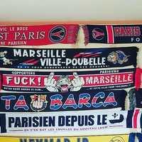 Qu'il est beau ce mur d'écharpes de Peter ! 🔴🔵😍 . Vous pouvez les retrouver sur www.lutecity.com ou à la Boutique des Supporters, 31 avenue du Parc des Princes, 75016 Paris ! 😉 . #Ultras #Paris #parissg #psg0#paname #echarpe #scarf #icicestparis #parisestmagique #parcdesprinces #virageauteuil #kob #kopofboulogne